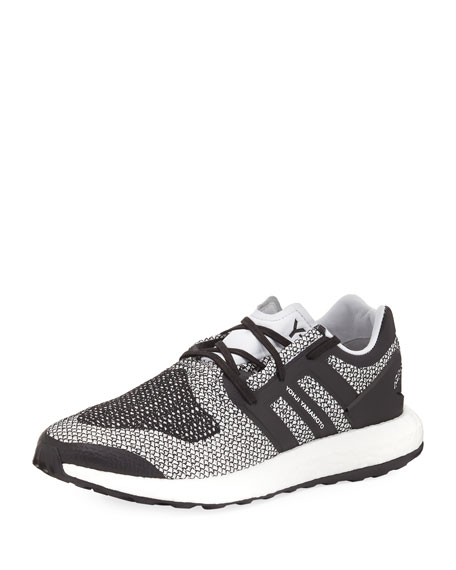 Y-3 Men's Pure Boost Mesh Sneaker, White/Black