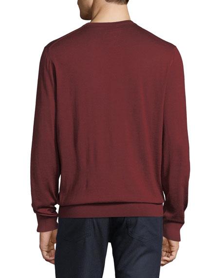 Cashmere/Silk V-Neck Sweater