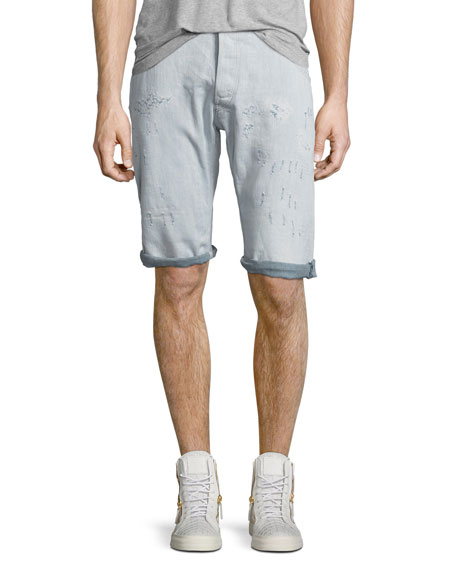 G-Star ARC 3D Bleached Wash Shorts with Distressing