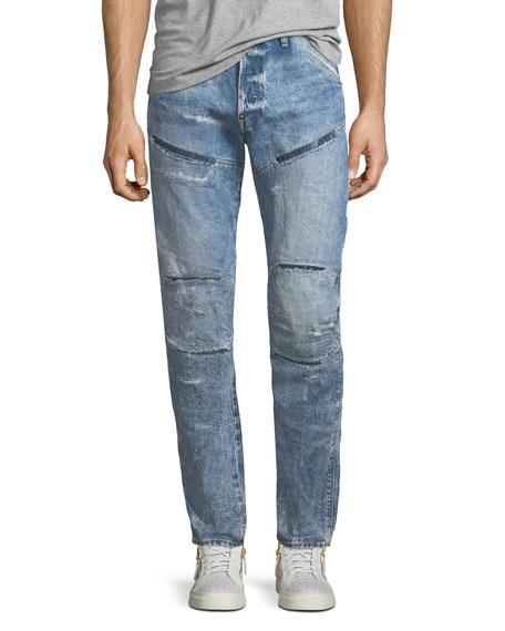 G-Star 5620 3D Tapered Rip & Repair Jeans