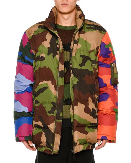 Multi-Camouflage Puffer Jacket