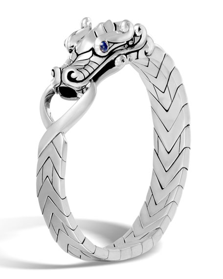 John Hardy Mens Legends Naga Dragon Sterling Silver Band Ring