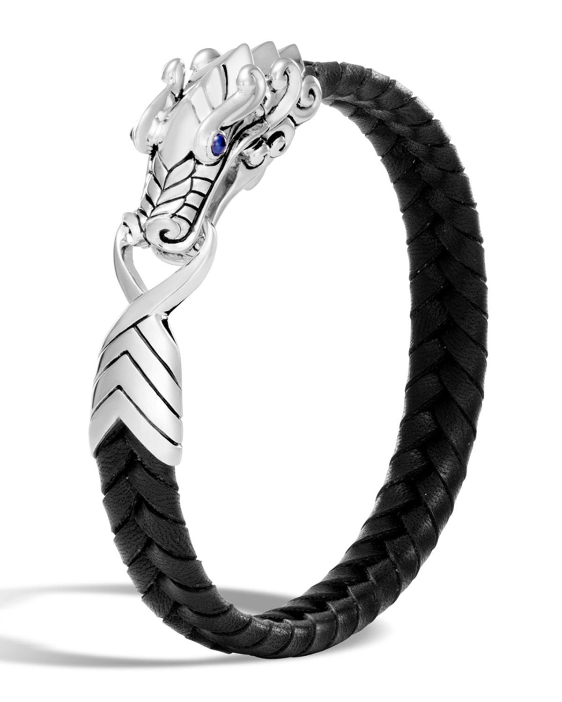 Men S Legends Naga Dragon Leather Bracelet