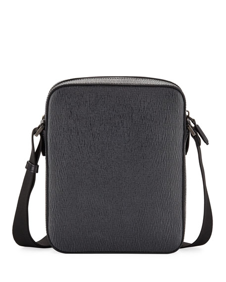 Men's Revival Men's Leather Crossbody Bag, Gray
