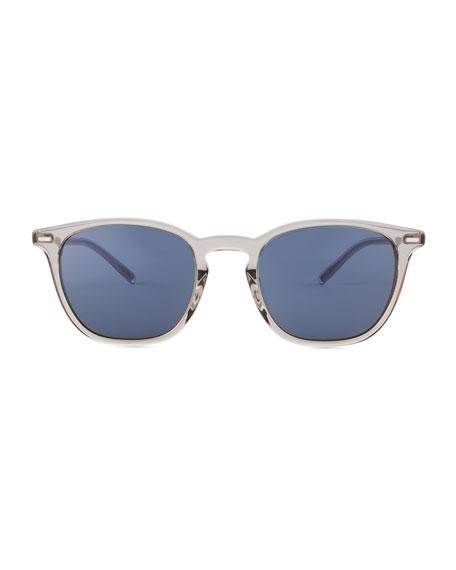 Oliver Peoples Heaton Square Acetate Sunglasses, Gray/Blue
