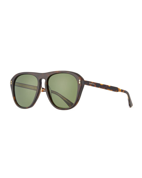 Gucci Men's Acetate Aviator Sunglasses
