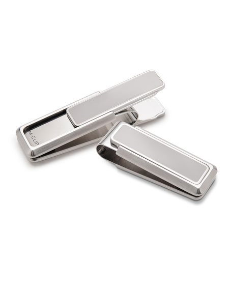 M Clip Stainless Brushed Polished Money Clip