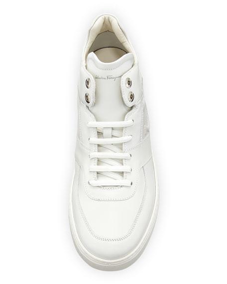 Men's Leather Mid-Top Sneakers
