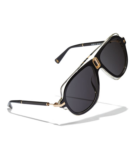 Acetate Aviator Sunglasses