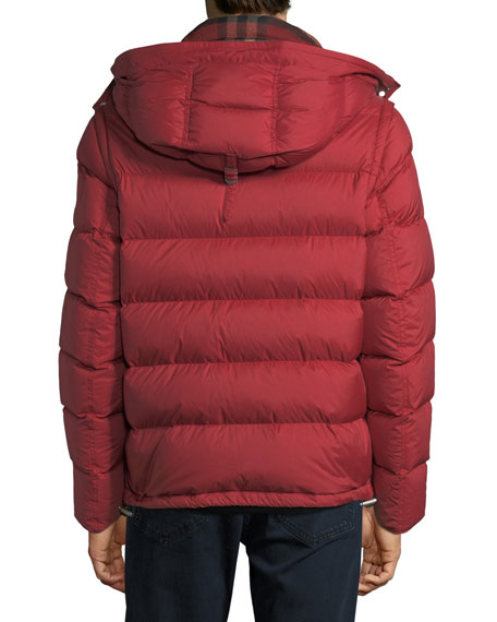 Burberry Hartley Hooded Quilted Jacket, Red : burberry quilted jacket with hood - Adamdwight.com
