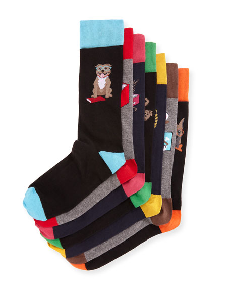 Neiman Marcus Dog Days 7-Pack of Socks