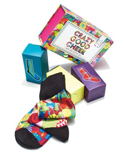 Crazy Good Cheer Socks Holiday Gift Set