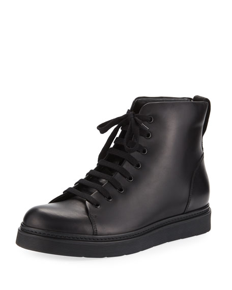 Vince Malon Men's Leather High-Top Sneaker