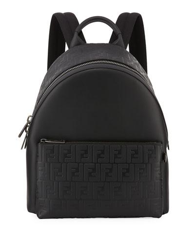 Signature Leather Logo Backpack