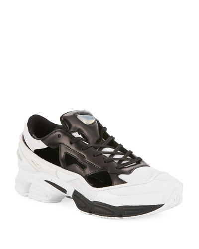 Toning Trainers in Leather Look Light Grey shoes BA77434