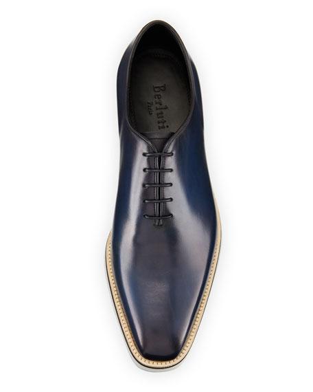 Venezia Leather Lug-Sole Lace-Up Shoe