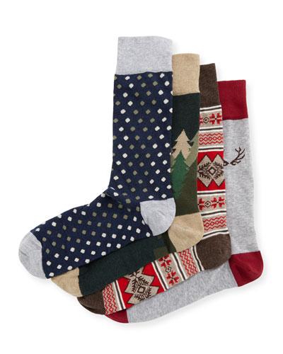 antler socks gift set - Light Up Christmas Socks