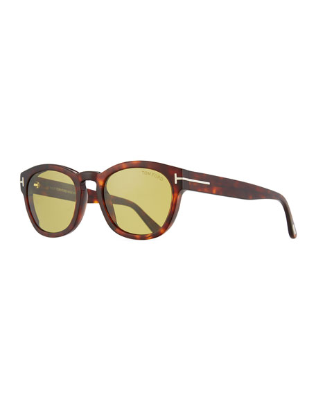 TOM FORD Bryan Round Acetate Sunglasses