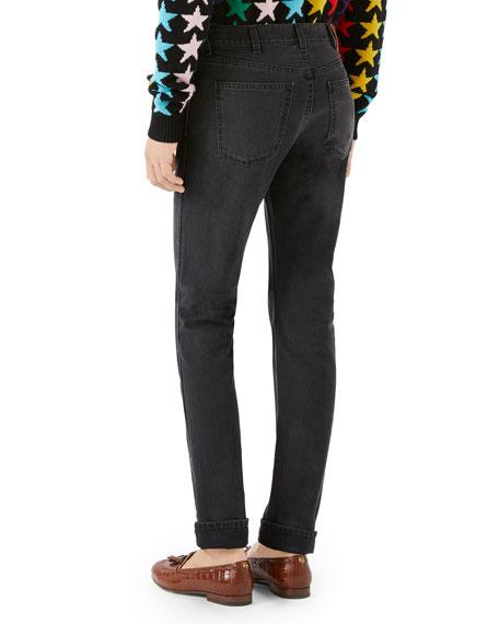 Gucci Cuffed Slim-Leg Denim Pants