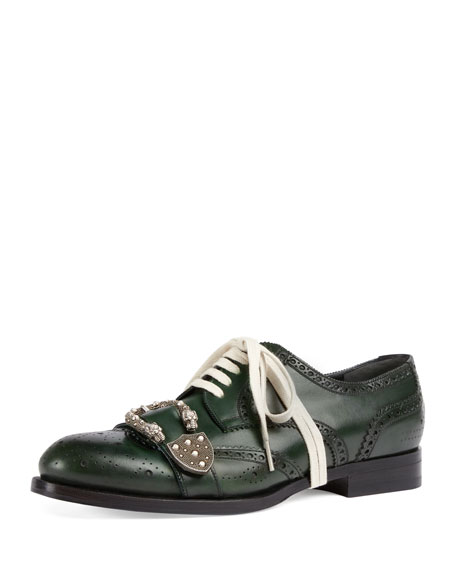 Gucci Queercore Spirit Buckle Lace-Up Brogue Shoe