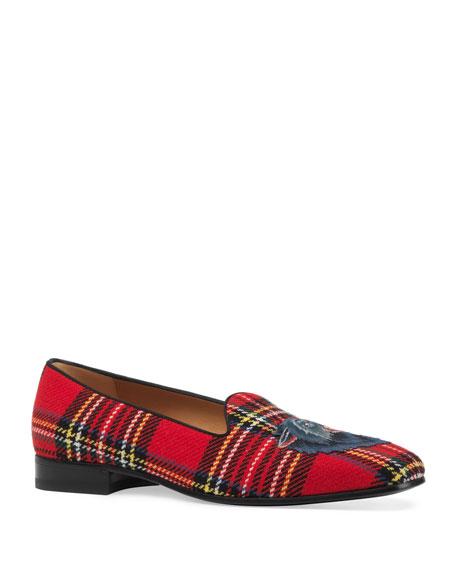 Gucci New Gallipoli Classic Tartan Loafer