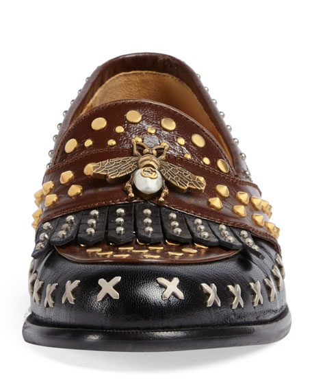 Studded Leather Loafer