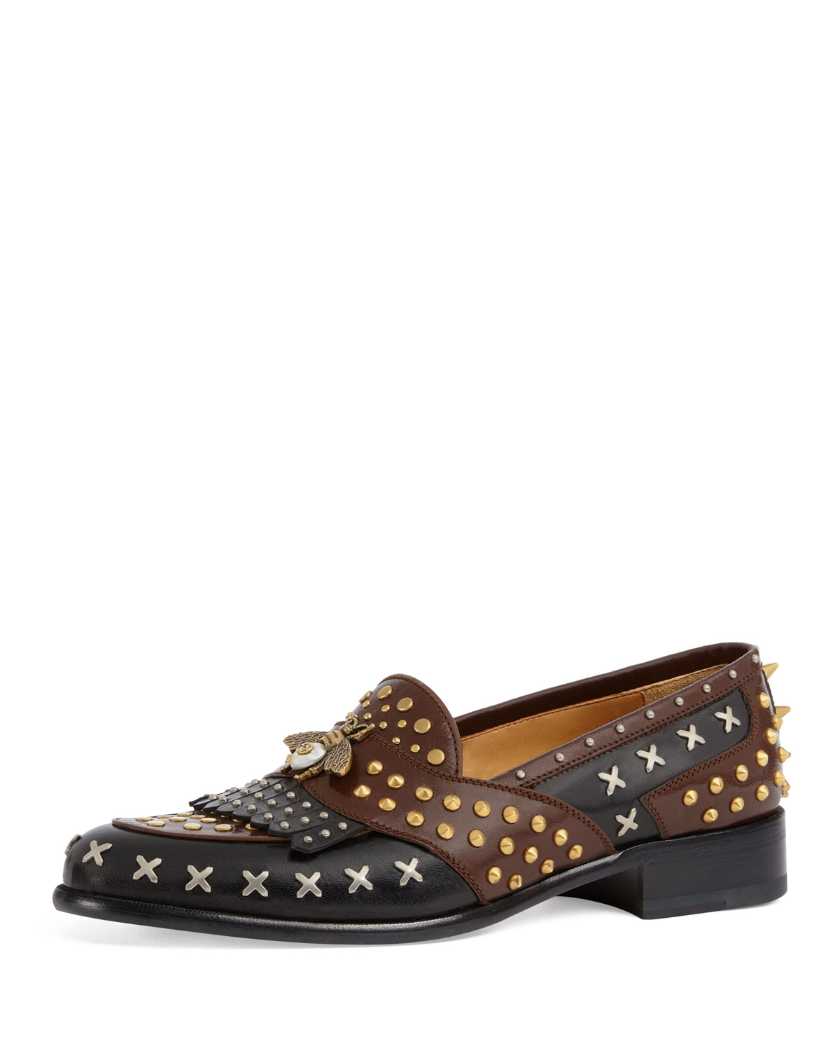 Gucci Studded Leather Loafer | Neiman