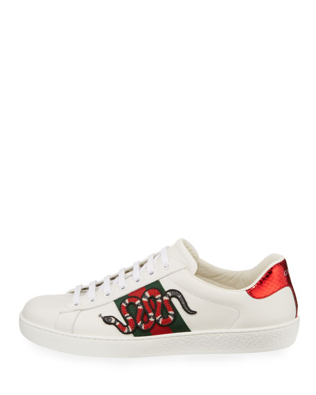 014aa20abfeb Image 3 of 4  Gucci New Ace Men s Snake Sneakers