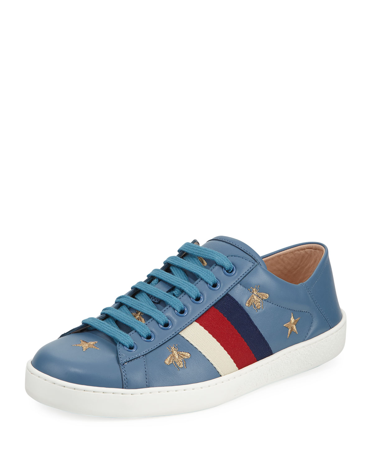7c85a2d2271 Gucci Ace Sneaker with Bees and Stars