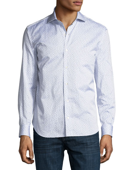 Small Burst-Print Cotton Dress Shirt