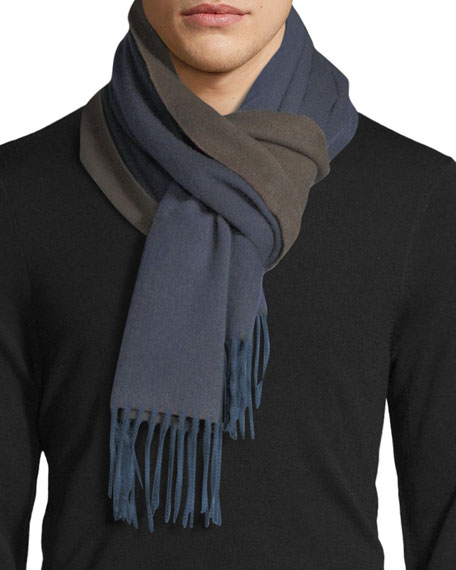 Begg & Co Arran Semi-Reversible Cashmere Scarf