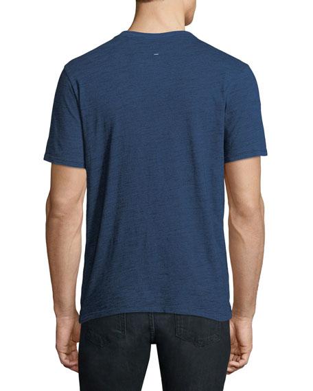 Men's Leaf-Print Back-Graphic T-Shirt