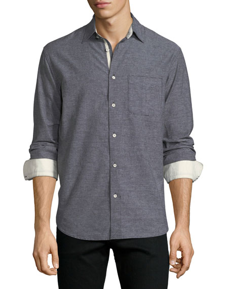 Rag & Bone Fit 3 Beach Contrast-Face Shirt