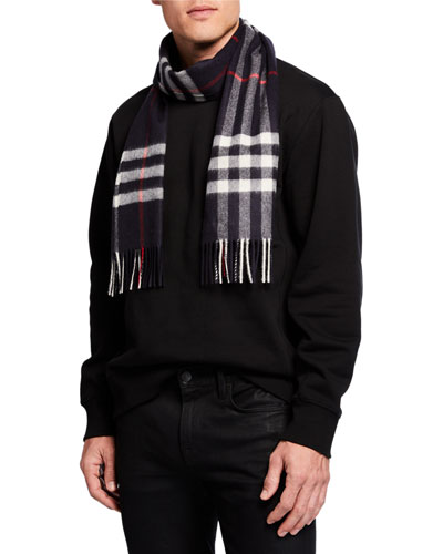 Men's Cashmere Giant-Check Scarf