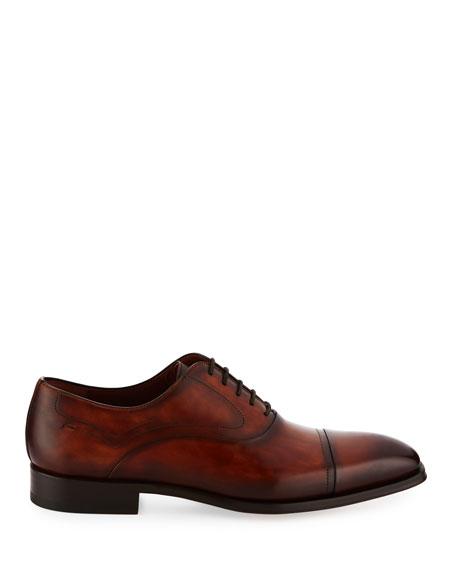 Cap-Toe Leather Oxford Shoe
