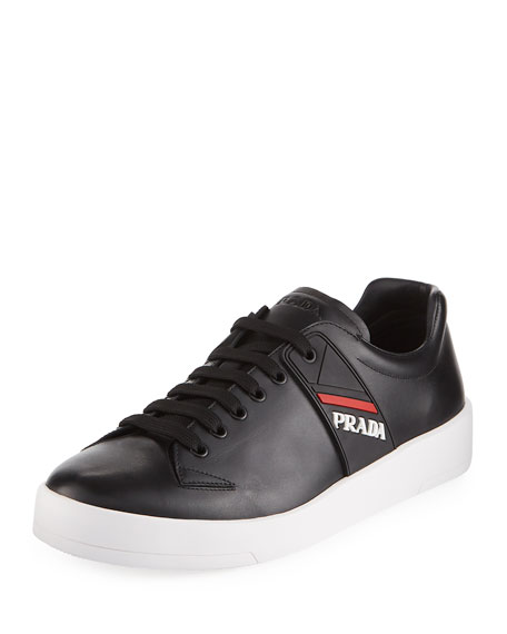 Prada Embroidered Low-Top Sneakers sale the cheapest sale footlocker pictures QjH3OkS0m3
