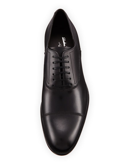Salvatore Ferragamo Men's Calf Leather Lace-Up Dress Oxford