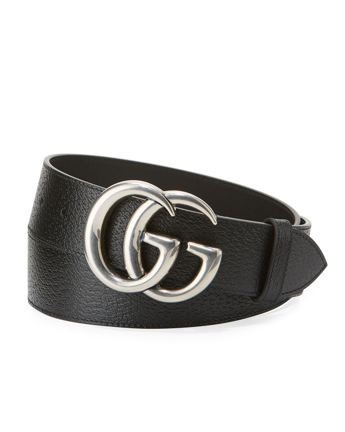 136d20ca0e0 Quick Look. Gucci · Men s Leather Belt with Silvertone Double-G Buckle