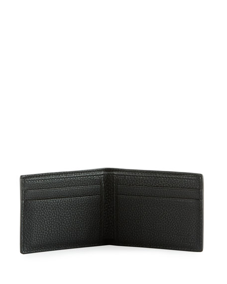 Bi-Fold Leather Logo Wallet