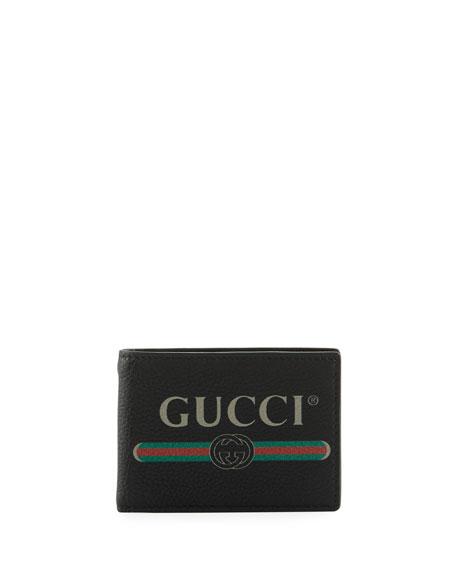 Gucci Bi-Fold Leather Logo Wallet