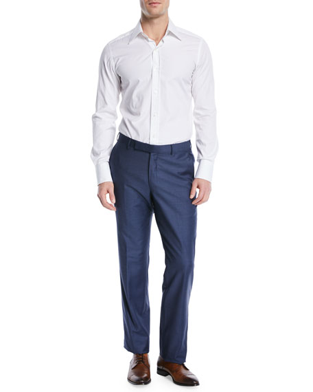 Trofeo Wool Dress Pants, Blue