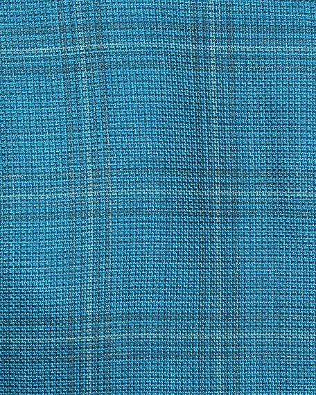 Kiton Cashmere/Silk Plaid Three-Button Sport Coat