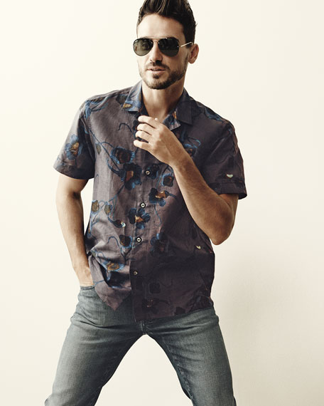 Floral Short-Sleeve Sport Shirt