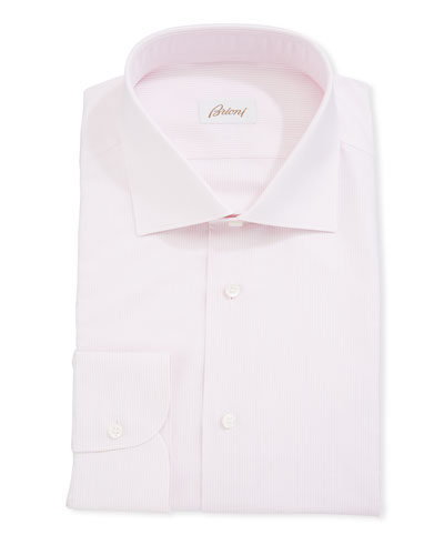 Fine Striped Cotton Dress Shirt