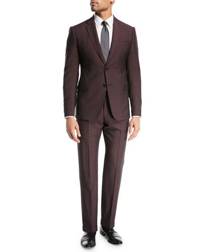 Tonal-Stripe Wool/Mohair Suit