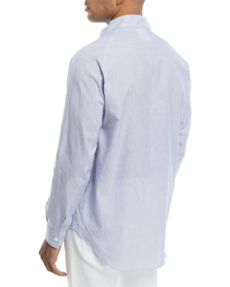 Guru Mandarin-Collar Dress Shirt