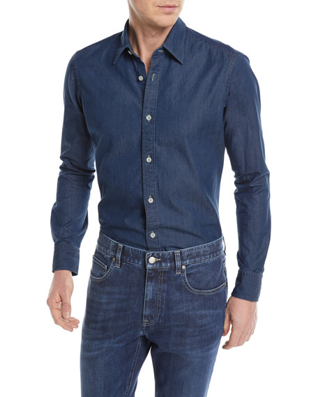 Z Zegna Denim Sport Shirt