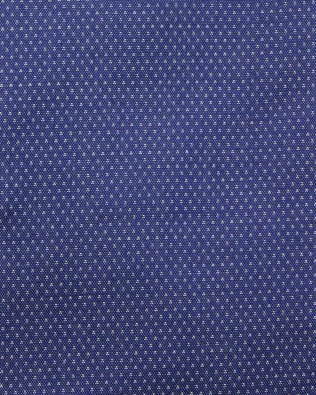 Men's Slim Fit Diamond Cotton Dress Shirt