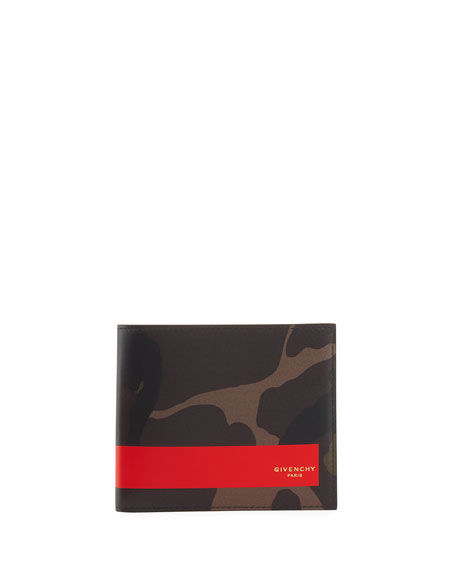 Givenchy Camouflage Leather Bi-Fold Wallet