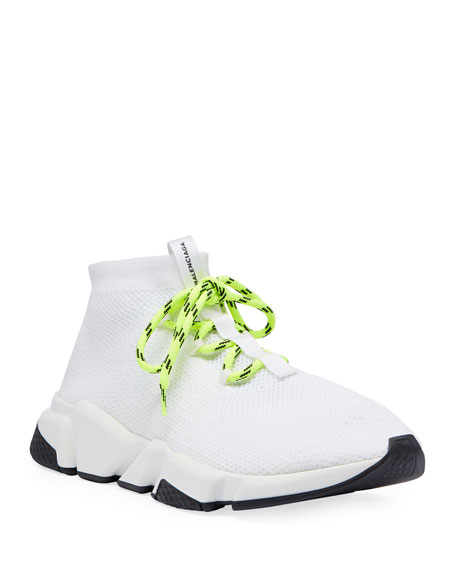 Stretch-Knit High-Top Trainer